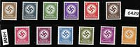 MNH WWII Officials stamp set / 1934 & 1942 / Third Reich era / WWII Germany