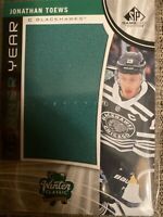 Jonathan Toews Blackhawks 2019-20 SP Game Used Banner Year Winter Classic