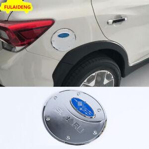 For Subaru XV 2018-2021 ABS Chrome Car Fuel Tank Protection Cover Cap decor Trim