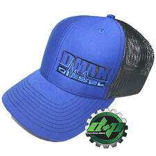 Duramax diesel Richardson trucker BLUE hat black mesh snap back Dmax cap bcfec87e3f71