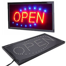 Bright Animated Running Motion Neon Led Business Store Shop Open Sign + Switch