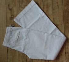 "LADIES ~ELEMENT (BILLABONG) JEANS / TROUSERS  ~FLARED ~ W29""/L34"" ~ WHITE ~ FAB!"