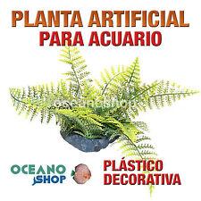 PLANTA ARTIFICIAL VERDE 20CM DIÁMETRO DECORACIÓN ACUARIO PECERA PLÁSTICO D90