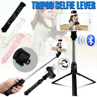 Selfie Stick Extendable Bluetooth Remote Shutter Tripod 360°Rotation for Phone
