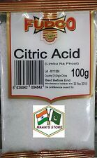 Acide Citrique 100 g-Fudco-Qualité Premium