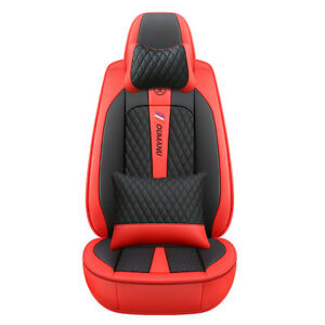 Car Seat Covers PU Leather Front+Rear Cushion Seat Cover 5-Seats Deluxe Edition