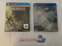 NEW Final Fantasy XII 12 The Zodiac Age + XV 15 Deluxe Limited Steelbook lot ps4