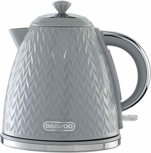 Daewoo Argyle Patterned 1.7L Kettle Washable Limescale Filter Auto Switch Grey