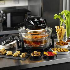 Michael James Large 17 Litre Black Premium Convection Halogen Oven Cooker