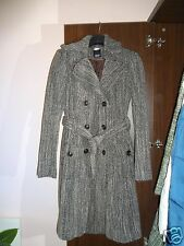 ESPRIT Collection Wool Cotton Blend Jacket Brown Melange Coat Size UK10 US6 EU38