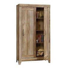 Sauder Adept 2 Door Storage Cabinet Oak Cabinets In Craftsman