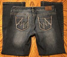 MAURICES Women's Straight Medium Wash Jeans Size 7/8 Short EUC Pair 2