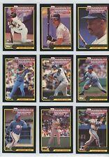 1992 TOPPS McDONALDS BASEBALL'S BEST GOLD FOIL CARD SINGLES NM/M 2 for $1.95.