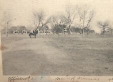 ANTIQUE FORT D.A. RUSSEL, WYO. POSTCARD 1908, OFFICERS ROW, SOLDIERS BARRACKS...