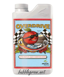 ADVANCED NUTRIENTS OVERDRIVE 250ML HYDROPONICS NUTRIENT BLOOM BOOS FLOWER STAGE
