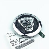 85mm Jaguar Schwarz Silber Emblem Logo Vorne Grill Haube Motorhaube Kühlergrill