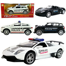 2PC 1:32 Lamborghini Porsche Mini Cooper Land Rover Police DieCast Model Car Toy