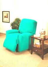 AQUA RECLINER SLIPCOVER--ALSO COMES IN SOFA COUCH LOVESEAT & CHAIR SIZES  XX