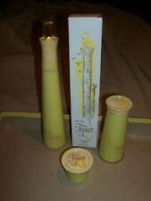 Vintage Avon Topaze 3 Oz Full Cologne Spray, Perfumed Talc, Cream Sachet Jar Gem