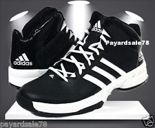 MEN'S SIZE 10 ADIDAS CROSS 'EM 3 BLACK / WHITE BASKETBALL SHOES SNEAKERS NEW
