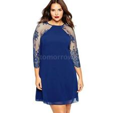 Plus Size Chiffon V Neck Cocktail Dresses for Women