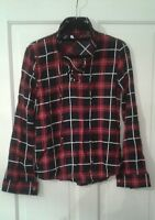 NEW Ladies Tartan Shirt Blouse Top S/Ladies 8