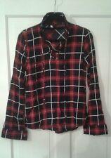 NEW Ladies Tartan Shirt Blouse Top S/Ladies 8
