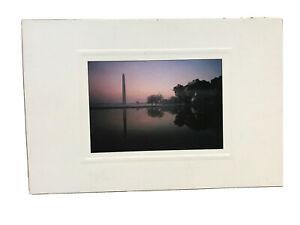 Washington Monument Reflecting Pool At Dawn Postcard USC-137 1996 Fred J Maroon