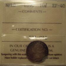 Canada Newfoundland 1890 Silver 10 Cents - ICCS EF-40