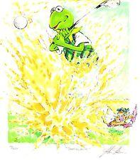 "Jim Henson Muppets Kermit Golf Lithograph ""Sandblast"""