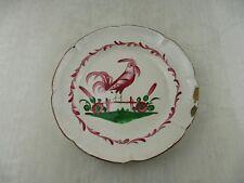 Ancienne assiette décor coq, les Islettes