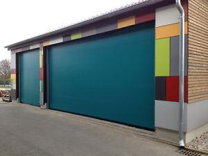Sektionaltor Sectionaltor Rolltor Industrietor Fenster Schlupftür möglich Farbe