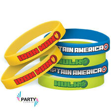 Avengers Party Supplies Favours RUBBER BRACELETS Pack Of 6