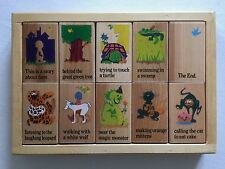 Story Blocks Wooden 1999 Rhyme & Season Toys