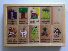 Story Blocks Wooden 1999 Rhyme & Season Toys