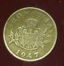ROUMANIE  1 leu 1947  ( bis )