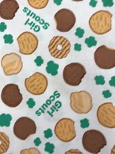 """Girl Scout cookie cotton fabric! 17"""" X 44"""""""