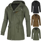 Winter Fashion Mens Military Long Trench Coat Parka Cotton Casual Jacket