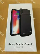 Ultra Slim Battery Case for iPhone X Xs 10 BC-X3 - Black