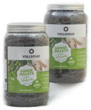 2 x 1 kg Dose Düngepellets aus Schafwolle Mulchwolle Schafdünger von Vollschaf
