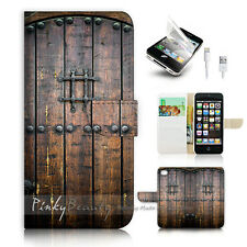 ( For iPhone 5 / 5S / SE ) Wallet Case Cover! P0796 Old Door