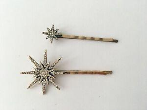 Star Crystal Hair Grip Clip Metal Hair Accessories