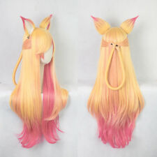 League of Legends LOL Ahri Gumiho Fox Star Guardian Cosplay Hair Wig + Ear Game