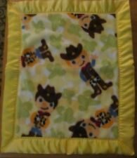 COWBOYS Fleece and Satin Baby/Toddler Security Blanket