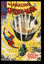 Amazing Spider-Man #61 1st Gwen Stacy Cover - Marvel Comics Silver Age - Fine+