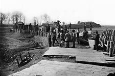 New 5x7 Civil War Photo: Soldiers in Confederate Fort at Manassas, Virginia