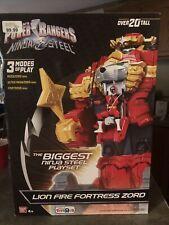 "Power Rangers Ninja Steel Lion Fire Fortress Zord 20"" Action Figure Megazord"