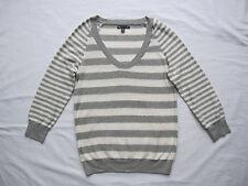 Gap - leichter Pulli Gr. XS, grau-weiß Baumwolle