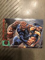 1994 Fleer Ultra X-Men Trading Card #141 - Wolverine vs The Thing