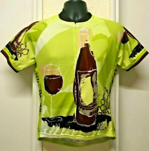 World Jerseys Tempo Di Vino Women's Cycling Jersey Sz: XL Green Brown - Used